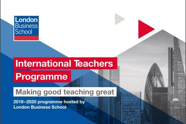 International Teachers Programme (ITP) 2020  Oportunidades de Beca  (Cierre: 4/09/2019)